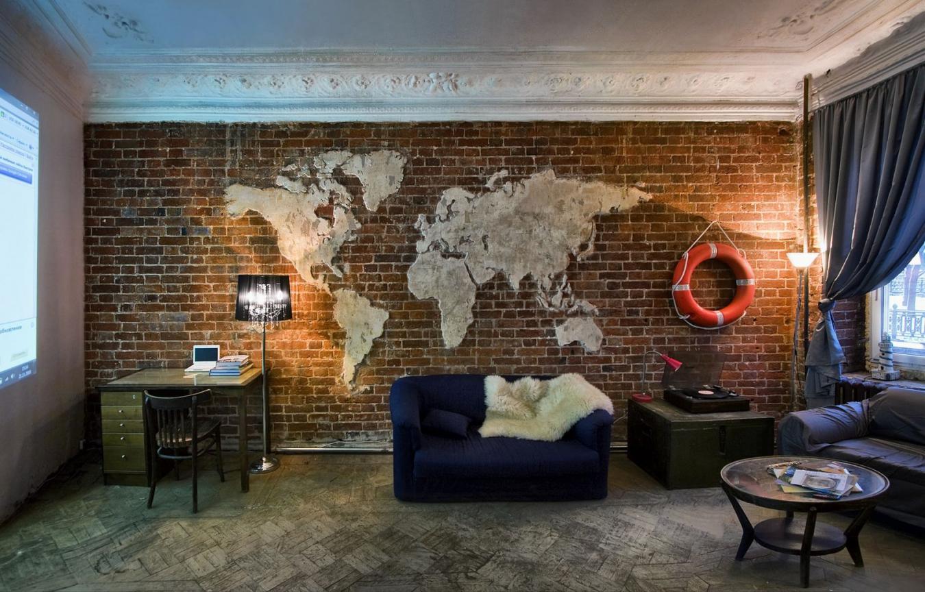 Дизайн квартир с кирпичной стеной
