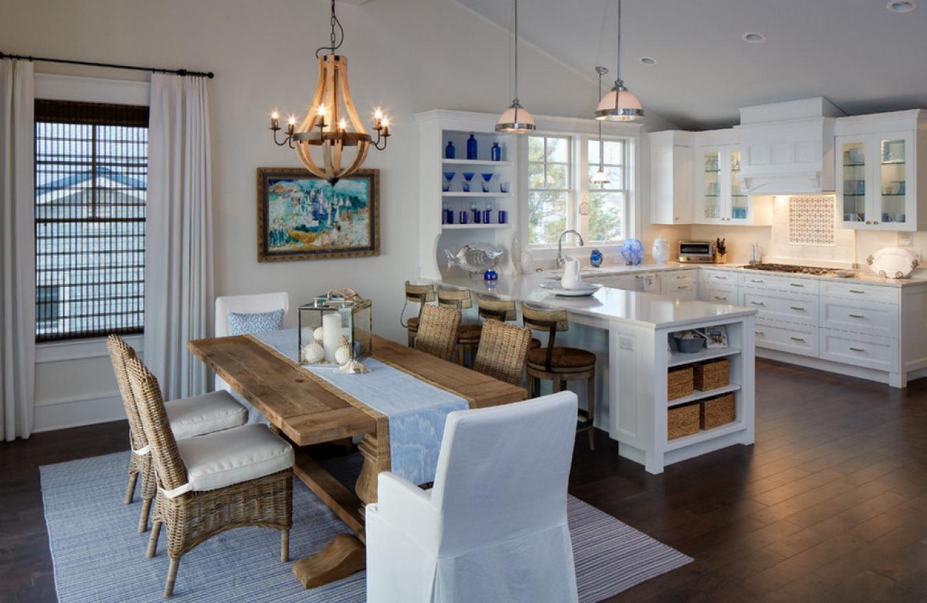 Coastal style dining room sets