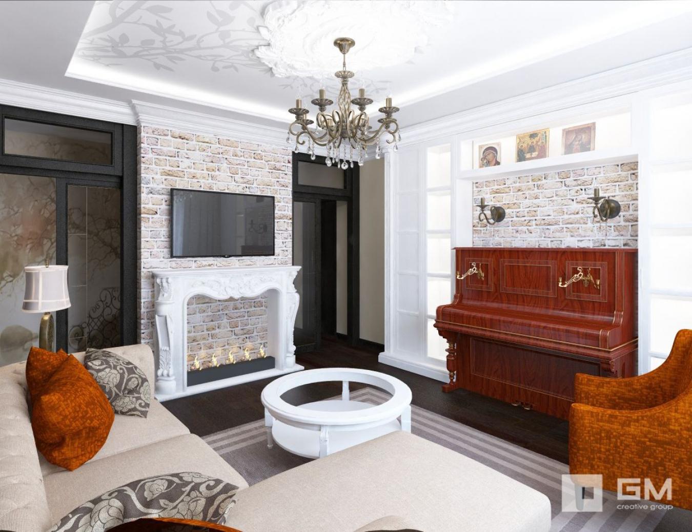 Интерьер комнаты с пианино фото